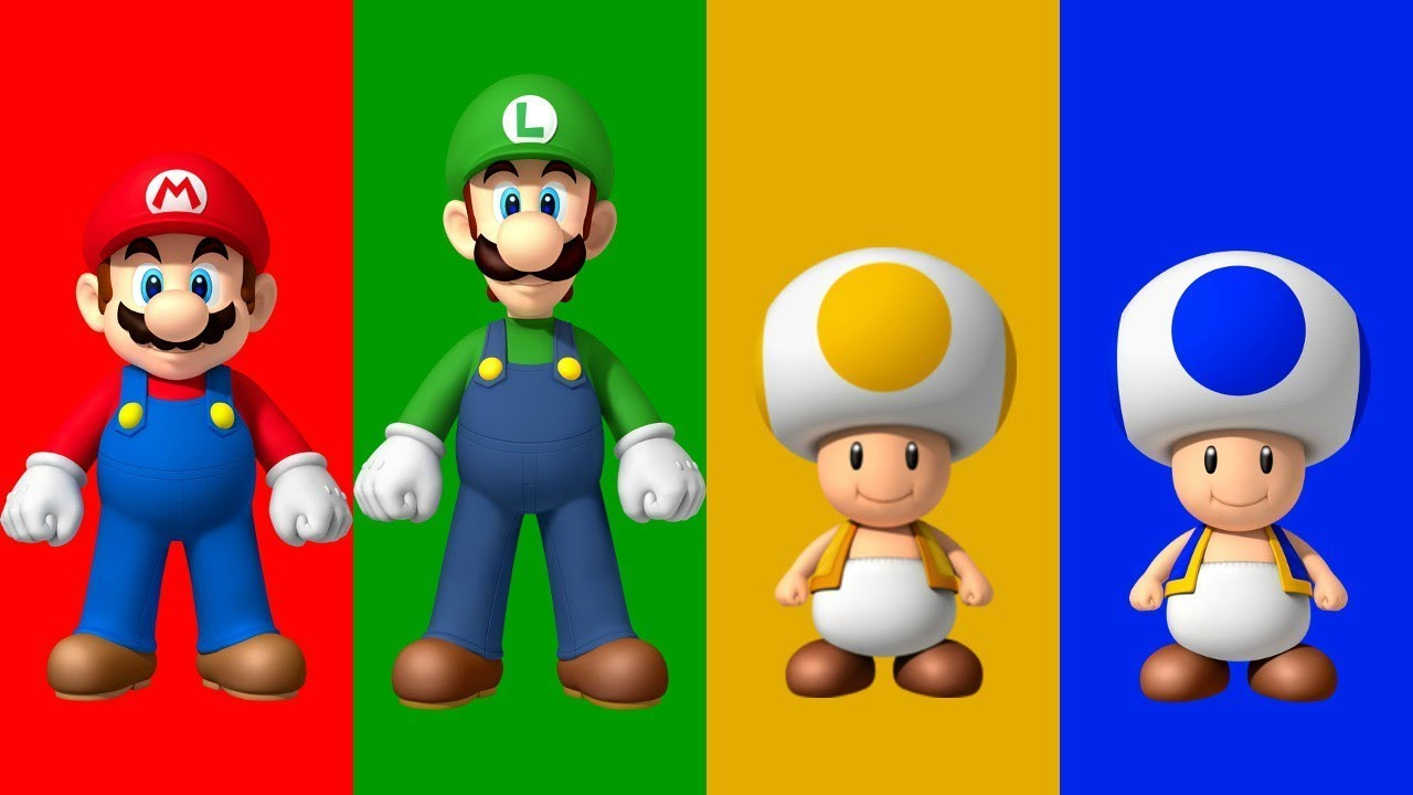 New Super Mario Bros Wii All Characters Youtube