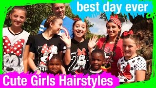 Brooklyn, Bailey & Cute Girls Hairstyles hunt for THRILLS! | BDE | WDW Best Day Ever