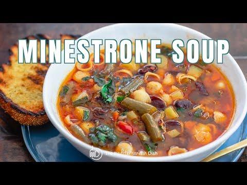 Simple Vegetarian Minestrone Soup | The Mediterranean Dish
