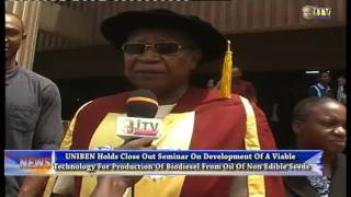 UNIBEN holds close out seminar on development of a viable technology