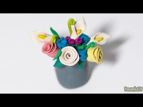 Дизайн ногтей: Объемный цветок  Лепка гель-пластилином