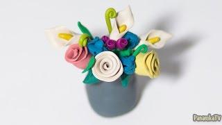 Лепка из пластилина #14: Как сделать Цветы.(В 14 части