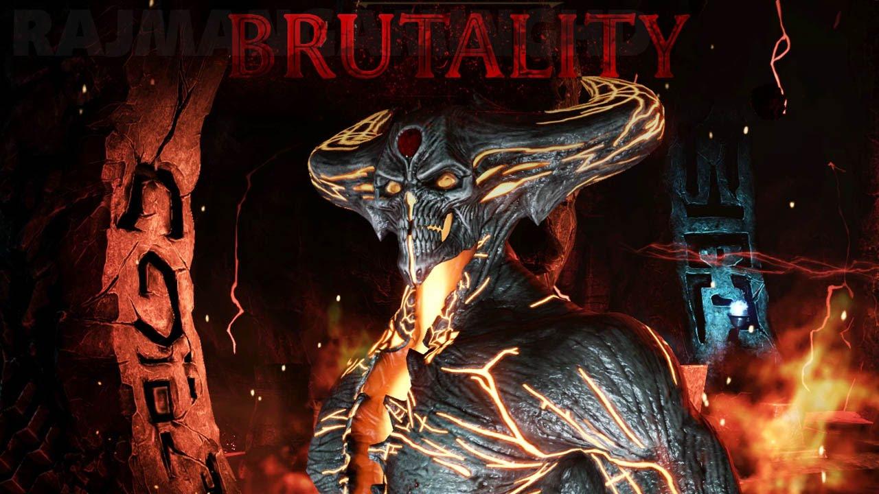 mortal kombat x corrupted shinnok brutalities 60fps