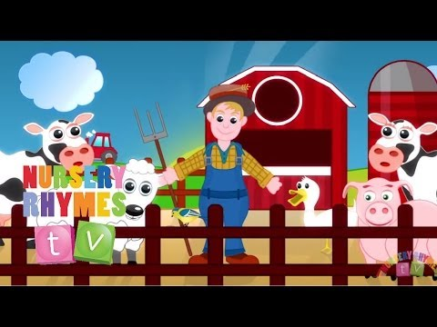 OLD MacDONALD HAD A FARM | Nursery Rhymes TV. Toddler Kindergarten Preschool Baby Songs.