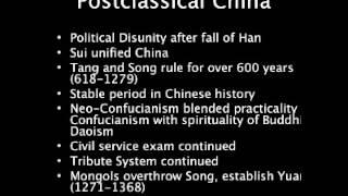 APWH 14.1 - Review of Postclassical Era