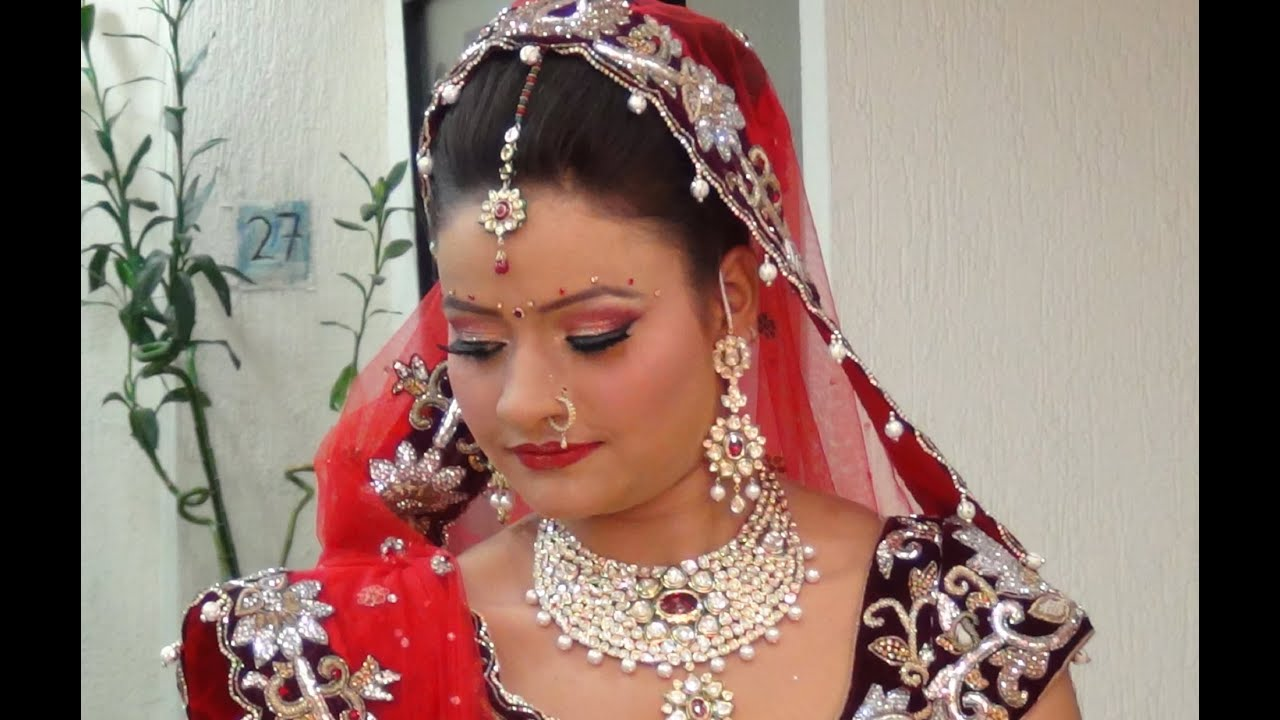 Traditional Bridal Makeup Looks : Indian Bridal Makeup - Traditional Indian Look - YouTube
