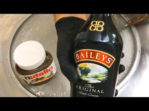 Nutella & Baileys Ice Cream Rolls Recipe - How To Make Nutella Ice Cream | Irish Cocktail Recipes