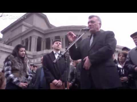 Ruben Hakopyan Press Conference from Liberty Square - March 26, 2013