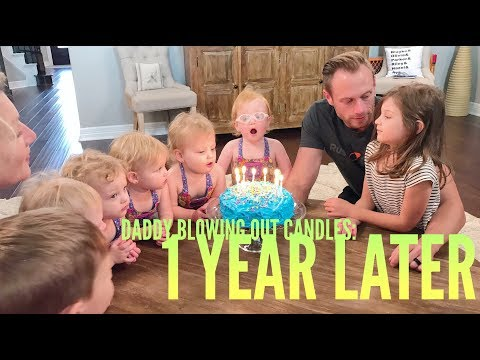 Reaction to Daddy Blowing out the Candles 1 Year Later