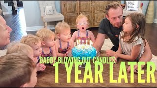 One of It's a Buzz World's most viewed videos: Reaction to Daddy Blowing out the Candles 1 Year Later