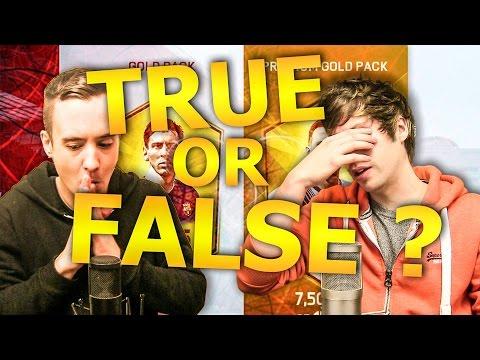 TRUE OR FALSE!? - FIFA 16 Ultimate Team