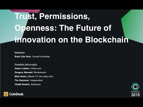 The Future of Innovation on the Blockchain - Consensus 2015