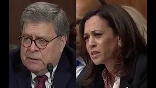 Kamala Harris brilliantly gets Barr to admit he's covering for Trump