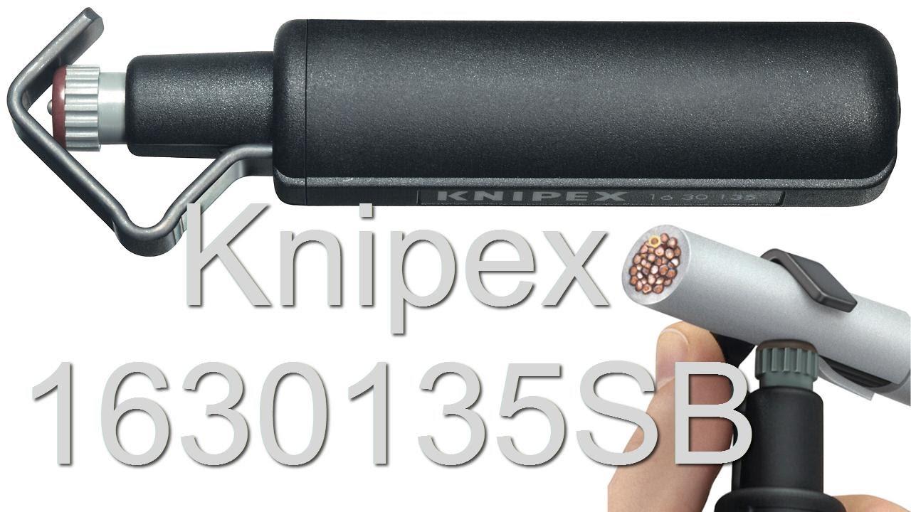 Нож для снятия изоляции Knipex 1630135SB - инструмент электрика