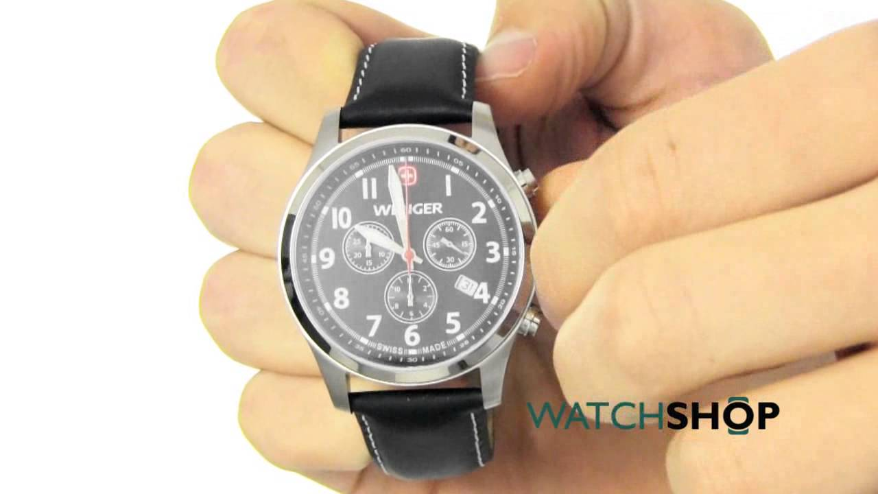 Wenger Men s Terragraph Chronograph Watch (010543101) - YouTube 972b5612bf7