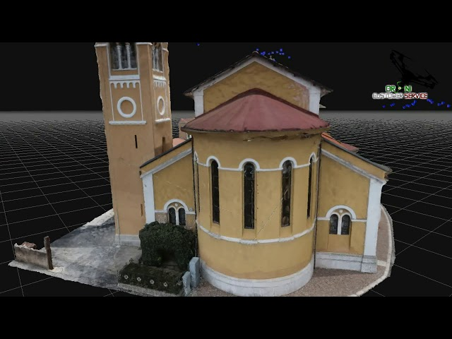 Fotogrammetria aerea con drone,Ricostruzione 3D Chiesa San Nicola Di Bari, di Droni Customer Service