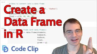 How to Create a Data Frame in R