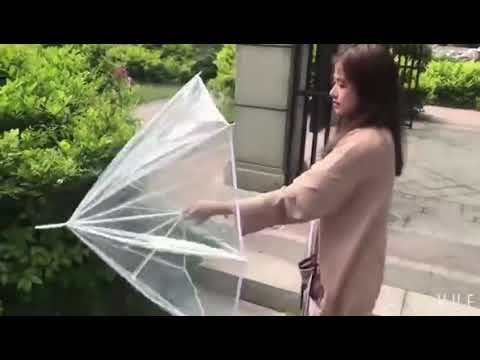 how to open and close clear umbrella