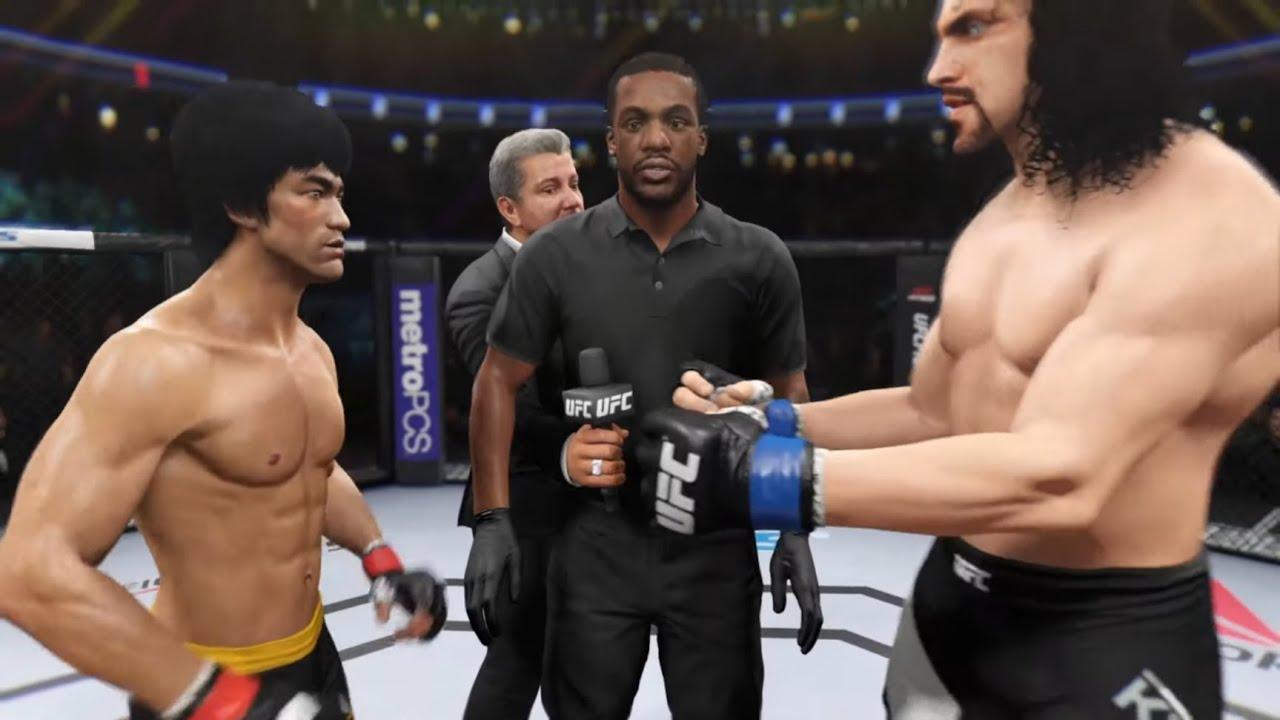 Bruce Lee vs. Great Khali (EA Sports UFC 2) - Epic Battle ? ? - Dragon Fights ?