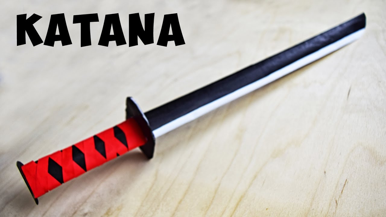 how to make a paper katana without tape