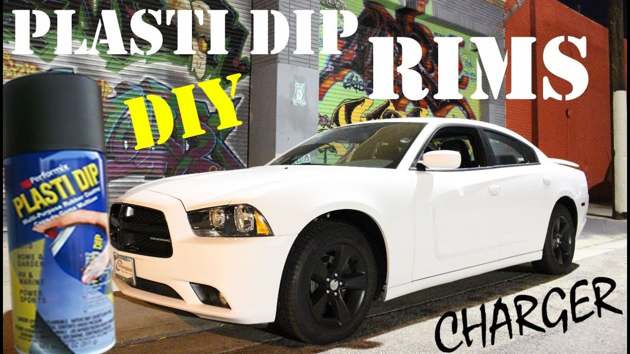 2014 dodge charger blacktop edition plasti dip wheels youtube - Dodge Charger 2013 White Black Rims