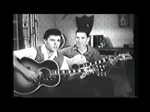 Ricky Nelson and James Burton Playing Acoustic Guitar