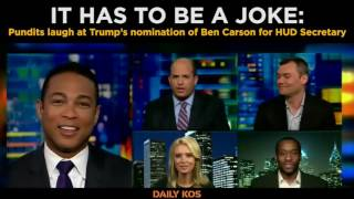 Pundits laugh at Trump's nomination of Ben Carson for HUD Secretary