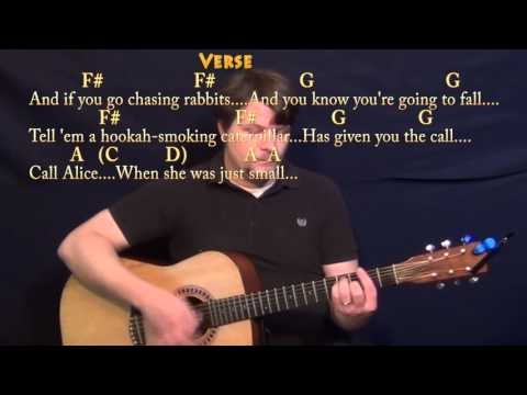White Rabbit (Jefferson Airplane) Guitar Lesson Chord Chart