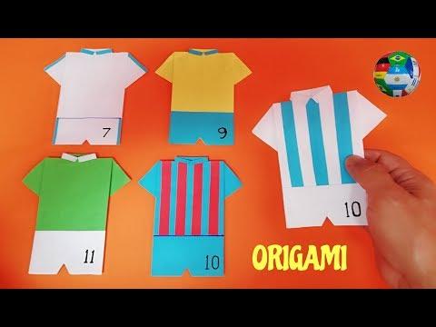 Como Hacer Una Camisa De Futbol De Papel Youtube