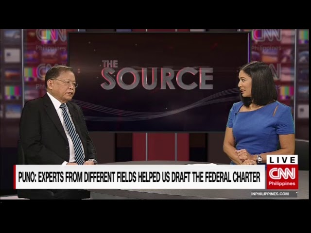 'The Source' speaks to Consultative Committee Chairman and Former Chief Justice Reynato Puno