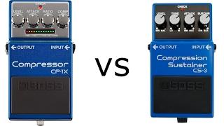 BOSS CS-3 vs BOSS CP-1X in war of the compressors Part 1
