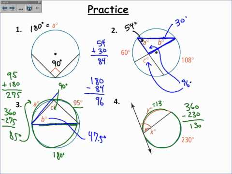 Inscribed Angles (with videos, worksheets, solutions & activities)
