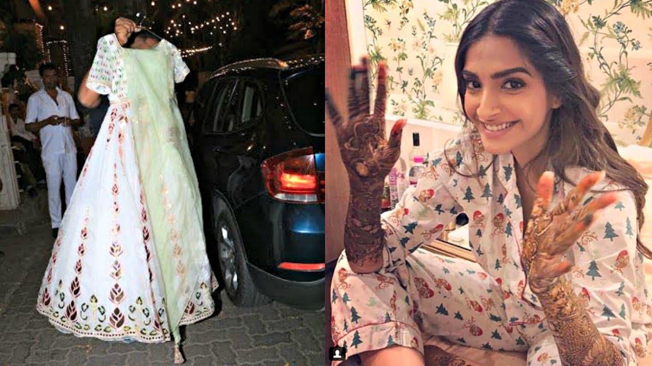 Sonam Kapoor Mehendi Dress