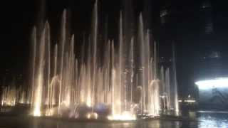 The Dubai Fountain at Burj Khalifia - Thriller by Michael Jackson