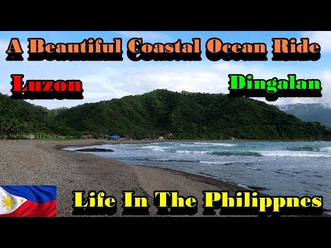 A BEAUTIFUL PHILIPPINES COASTAL OCEAN VIEW MOTORCYCLE  RIDE - DINGALAN - LUZON