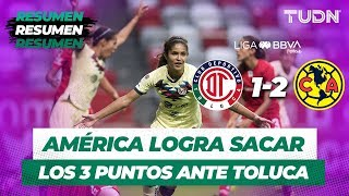 Resumen Toluca 1 - 2 América | Liga Mx Femenil Apertura 2019   Jornada 7 | TUDN