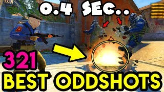 0.4 SECONDS and... *FASTEST ROUND* - CS:GO BEST ODDSHOTS #321