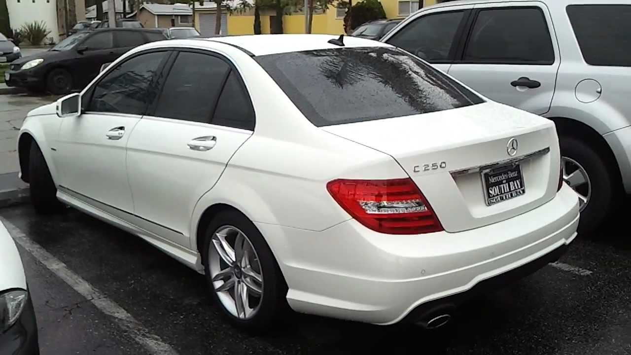 2012 Mercedes Benz C250 C350 Window Tint Smoked Glass