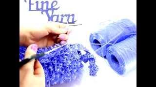 Видеоурок вязания от Fineyarn #1 Вязание мочалки