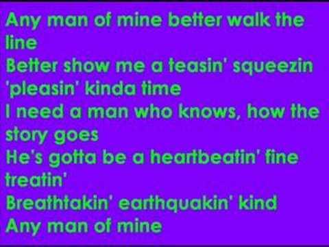 Shania Twain - Any man of mine (lyrics)