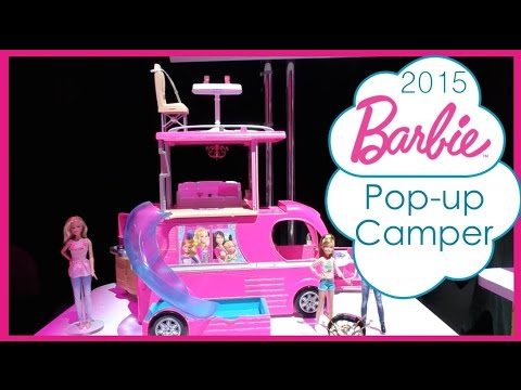 New Barbie S Pop Up Camper 2015 Preview Toy Fair Nyc