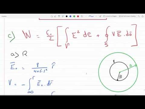 Find the energy stored in a uniformly charged solid sphere of radius R and charge q 2-32 C