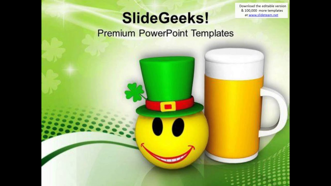 smiley face and beer mug celebration festival powerpoint templates