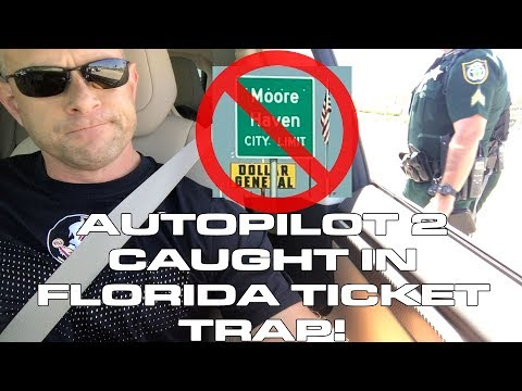 Tesla Model X 100D in Moore Haven Florida Glades County Move Over Law Ticket Trap
