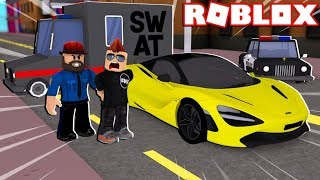 NEW SWAT VAN in ROBLOX VEHICLE SIMULATOR | DRAG RACES | CAR STUNTS