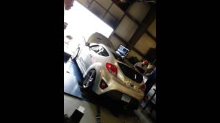 my 2013 hyundai veloster turbo on the chasis dyno being tuned