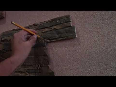 Как приклеить искусственный камень