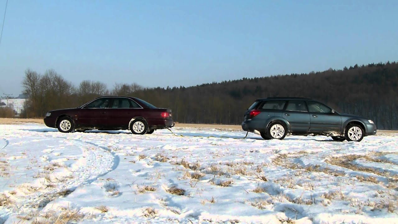 audi a6 quattro vs subaru outback on ice 2 viyoutube. Black Bedroom Furniture Sets. Home Design Ideas