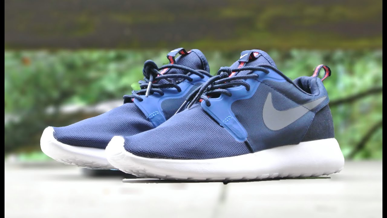 nike roshe run hyperfuse navy blue