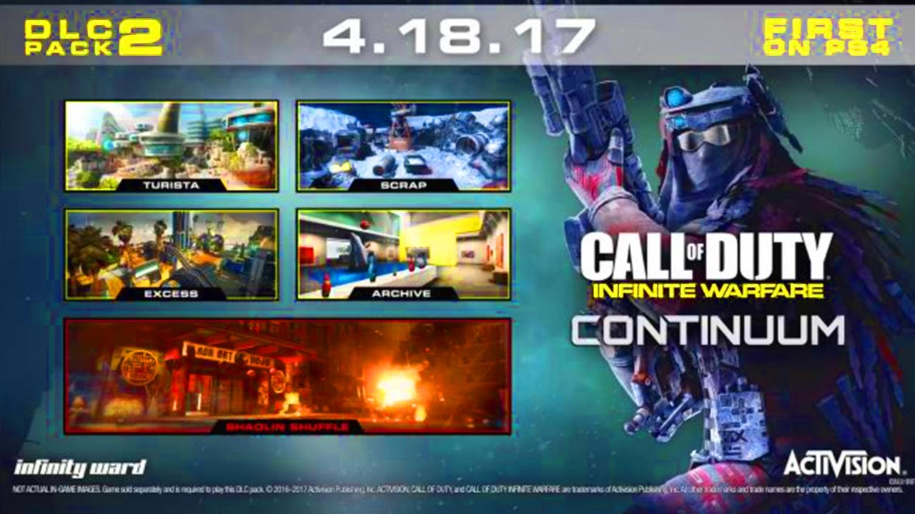 INFINITE WARFARE DLC 2 MAPS! NEW MAPS CALL OF DUTY INFINITE WARFARE MW2  RUST NEW DLC UPDATE!!